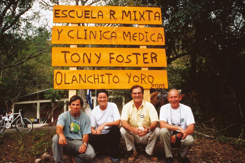 Tony Foster (far right) and companions, Honduras, 2001.