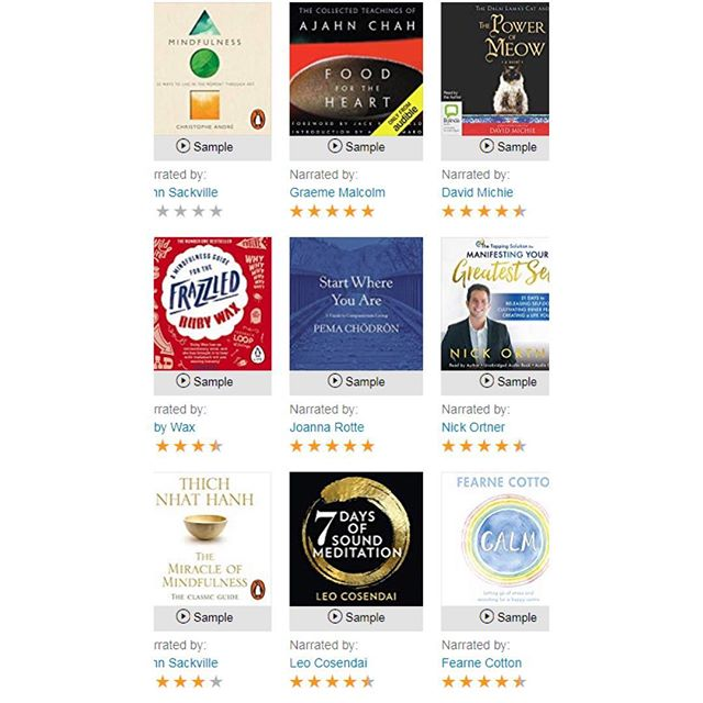 "7 Days of Sound Meditation is in good company on the @audible @amazon @apple #ibooks stores 😌 This is what @elleuk said about it: ""It'll get you through the toughest commute"". I hope you enjoy it 🙏🏼 #meditation #gongbath"