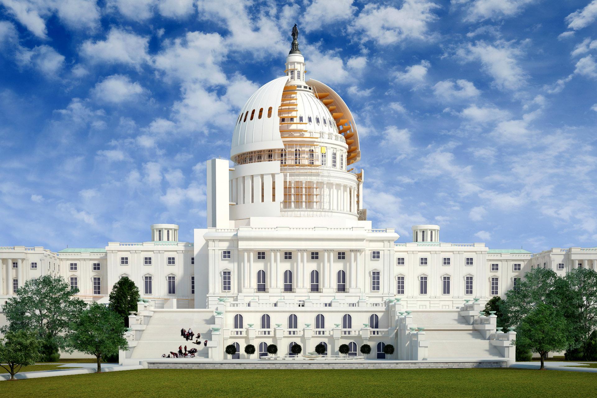 us capitol dome restoration - 4D Construction Simulation