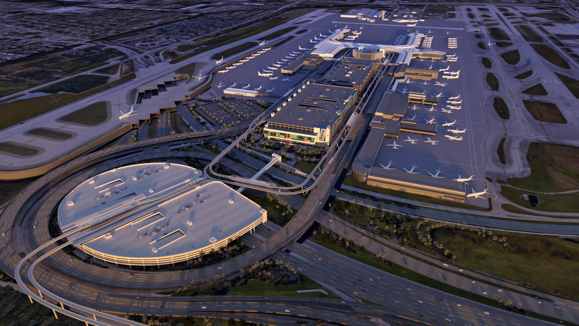 FLL international airport - 3D Modeling, 3D Rendering, Animation