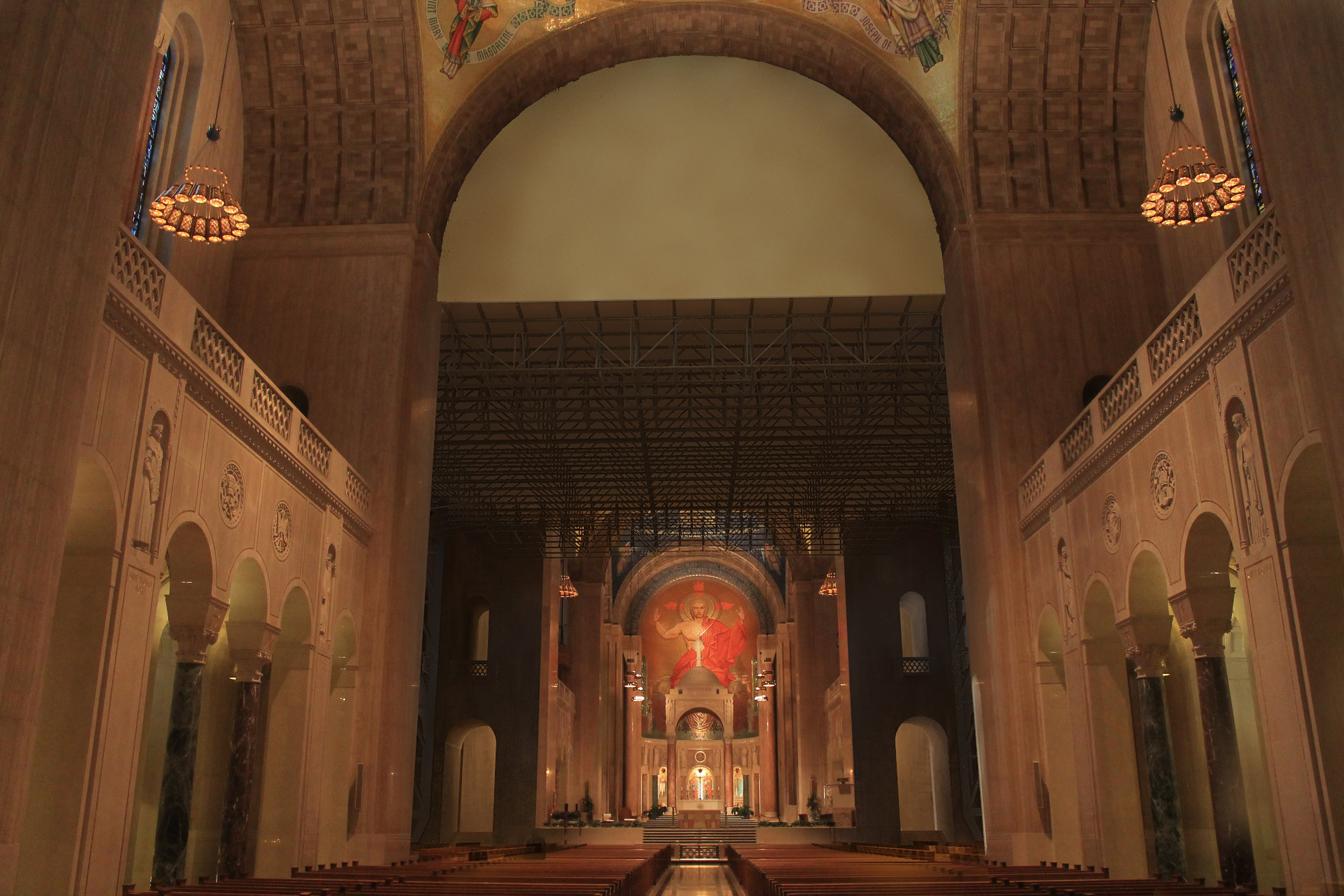 The Basilica at Catholic University - 3D Rendering, 4D Construction Simulation