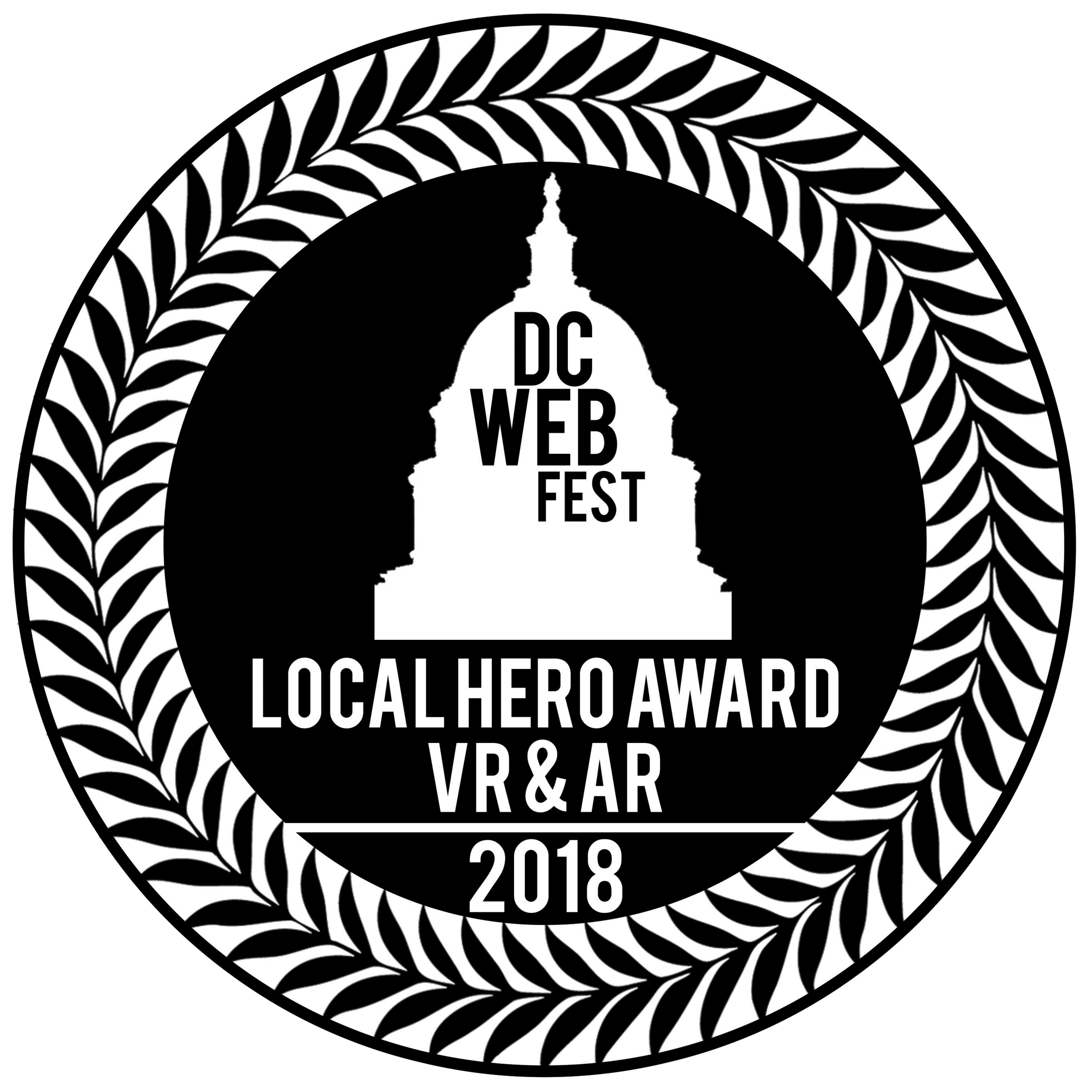 "Voted ""Local Hero in VR & AR"" at DC WebFest 2018"