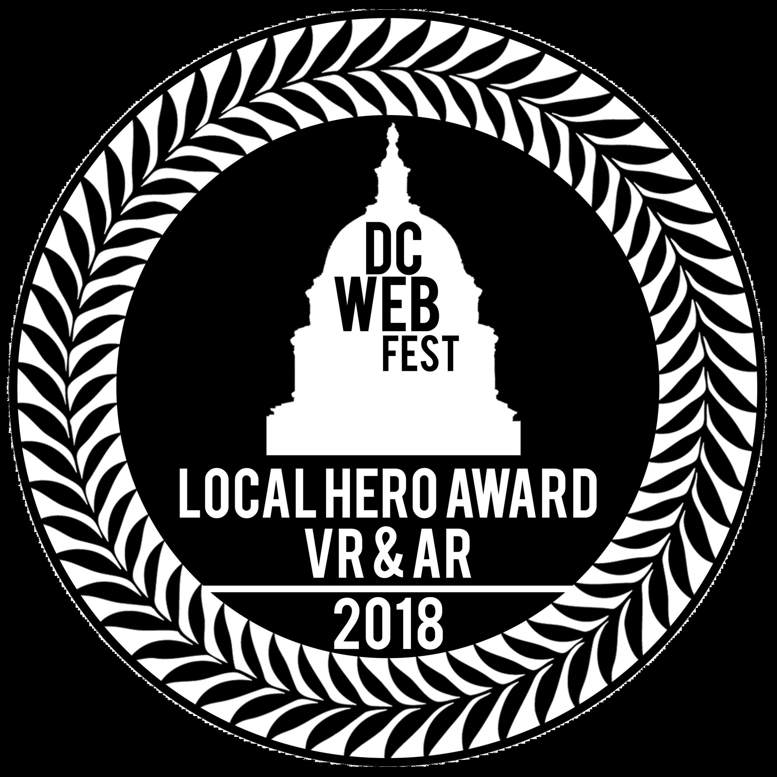 """Local Hero Award in VR & AR"" DC Web Fest 2018"