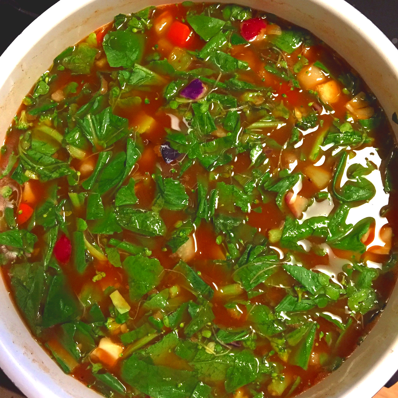 What's-in-Your-Fridge Soup - Hearty or Light - Your Choice!