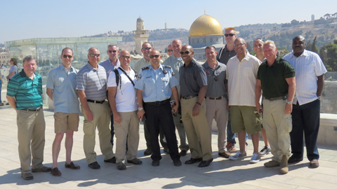 U.S. law enforcement officials participating in ADL Police Exchange in Jerusalem.