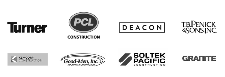 We partner with some of the best construction companies in town -