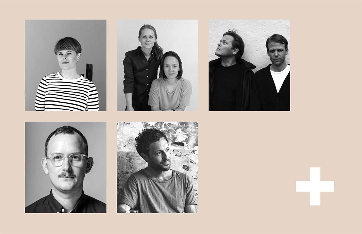 Fra venstre: Stine Aas, Vera & Kyte, Berg & Hindenes, Lars Beller og Philipp von Hase. Alle er godt anerkjente på den internasjonale designscene.