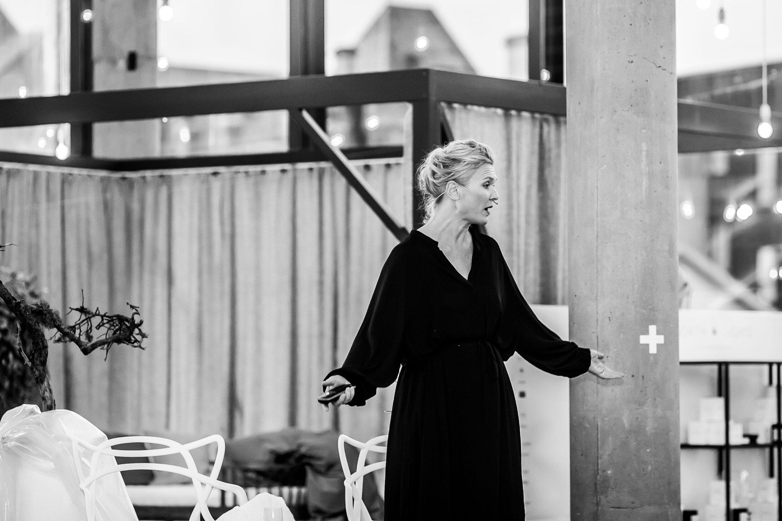 Monica Hannestad engasjerte med sine utspill og har en tydelig stemme i denne samtalen.