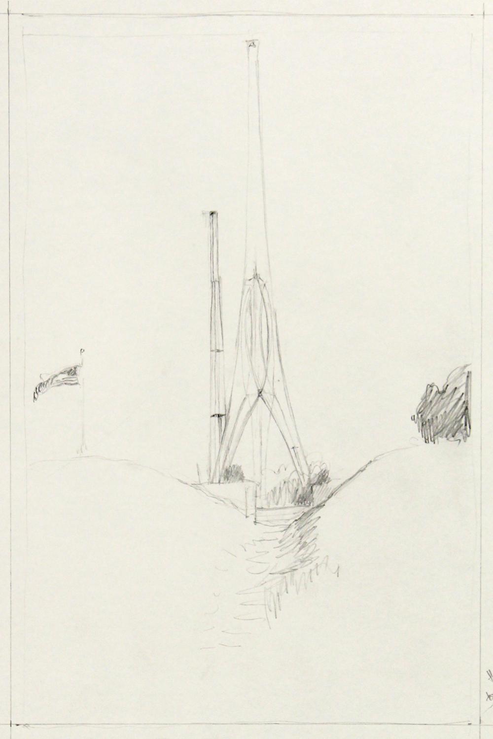 Study for Hughes Tower From Ft. Stevens