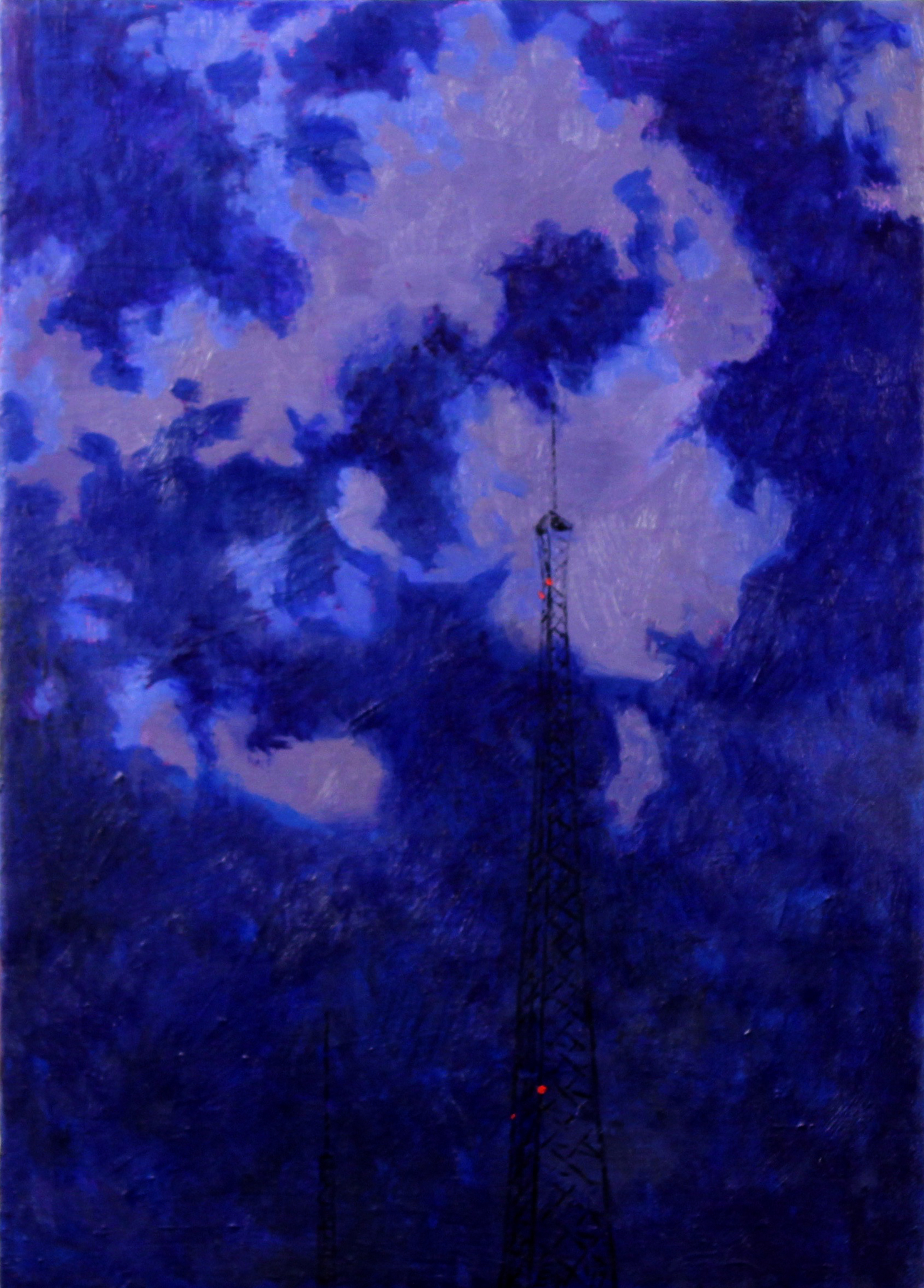 Hughes Tower with Purple Cloud