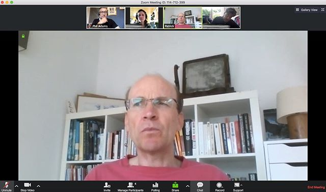 Post-production starts in earnest on our Athens film. Four-way video call between France, Germany, East Belgium and Scotland. Europe is cool.