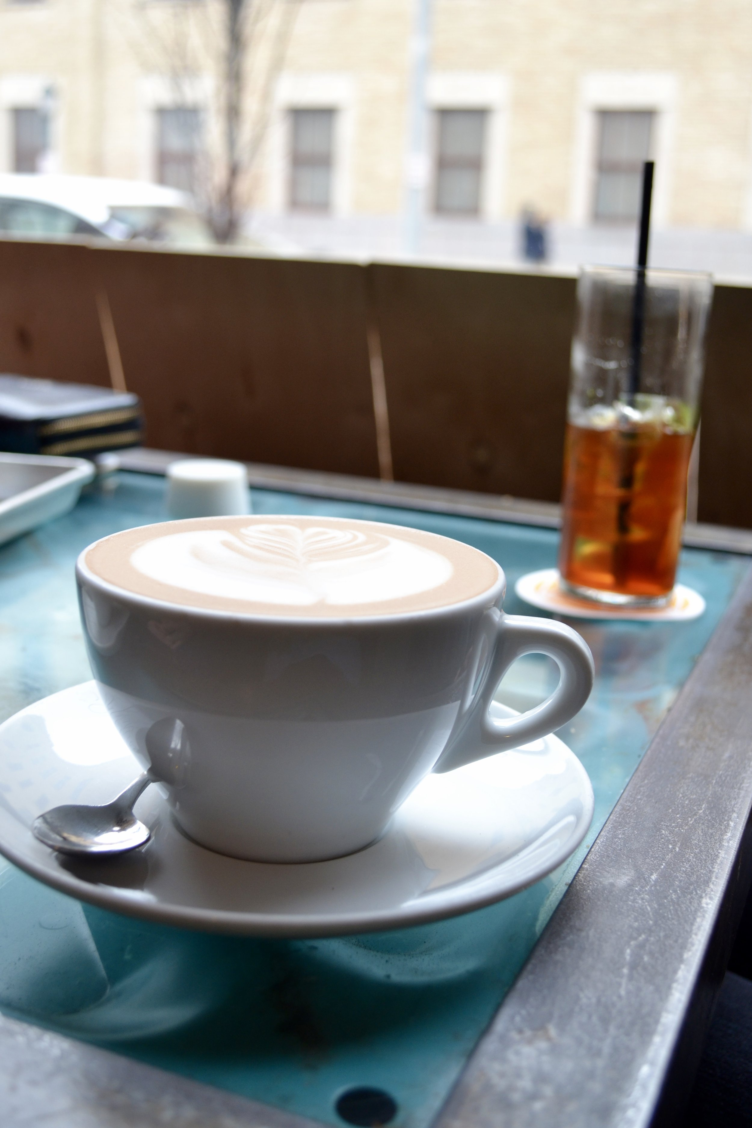 Photographed by Lydia Jackson. Jackson's trip to Blueprint Coffee on the Delmar Loop.