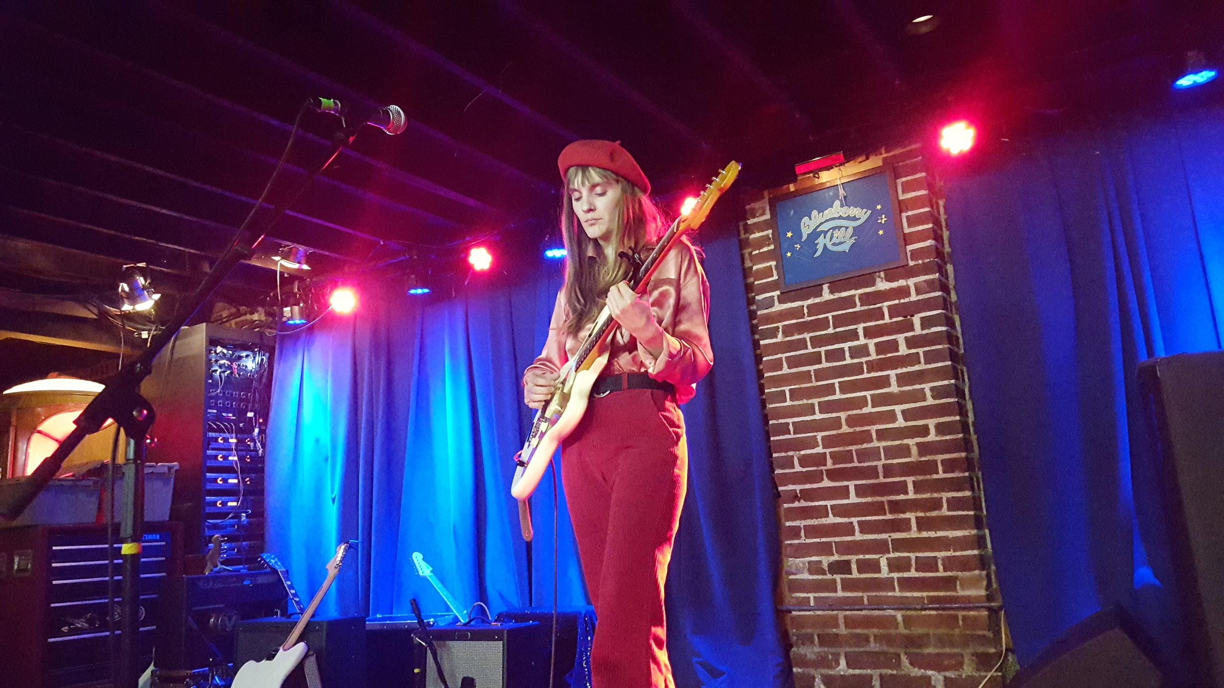 Liza Anne takes the stage at Blueberry Hill in St. Louis.