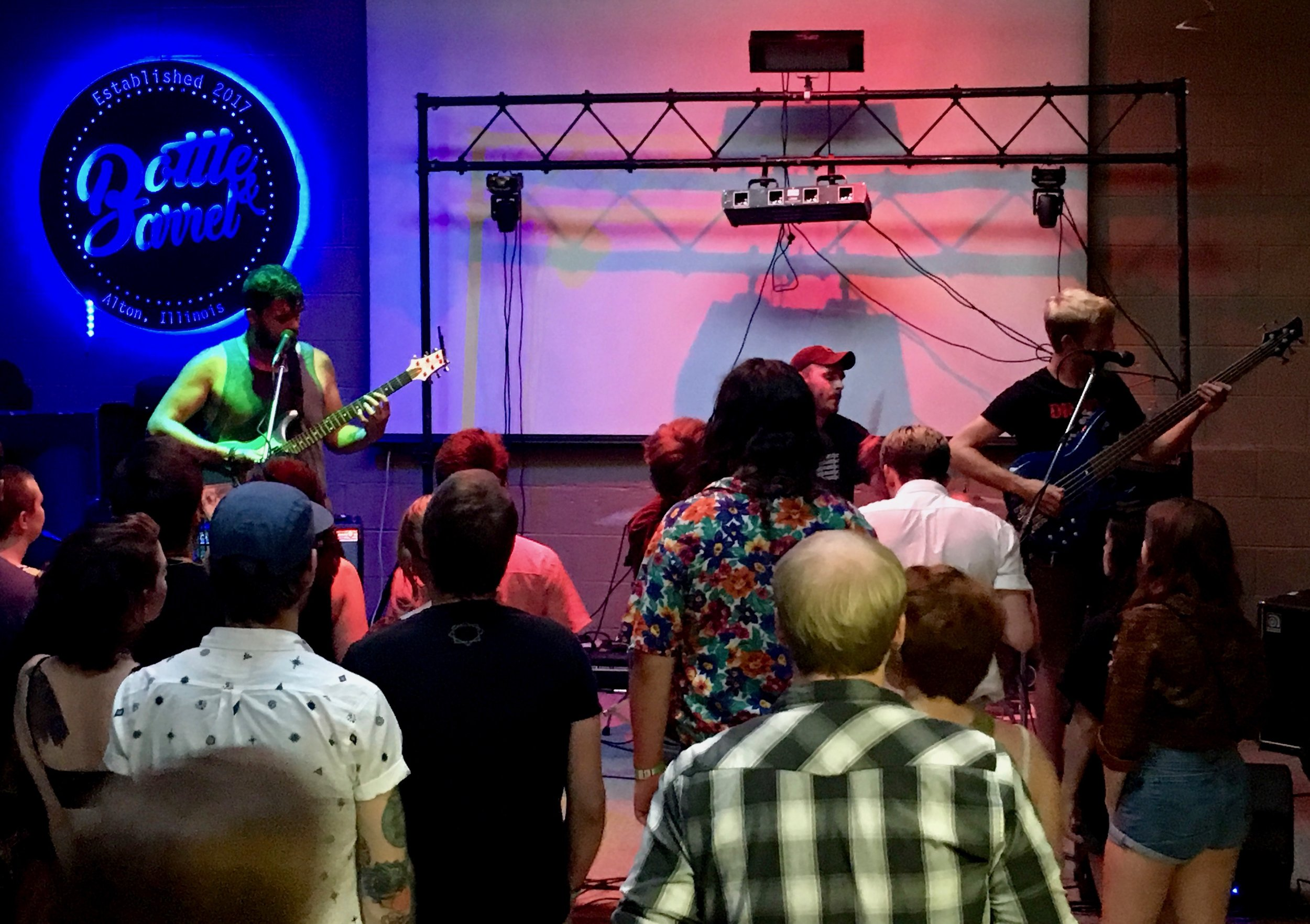 Biff K'narly and the Reptilians jam at another Rock the Hops location, Bottle & Barrel. Photo by Rosita
