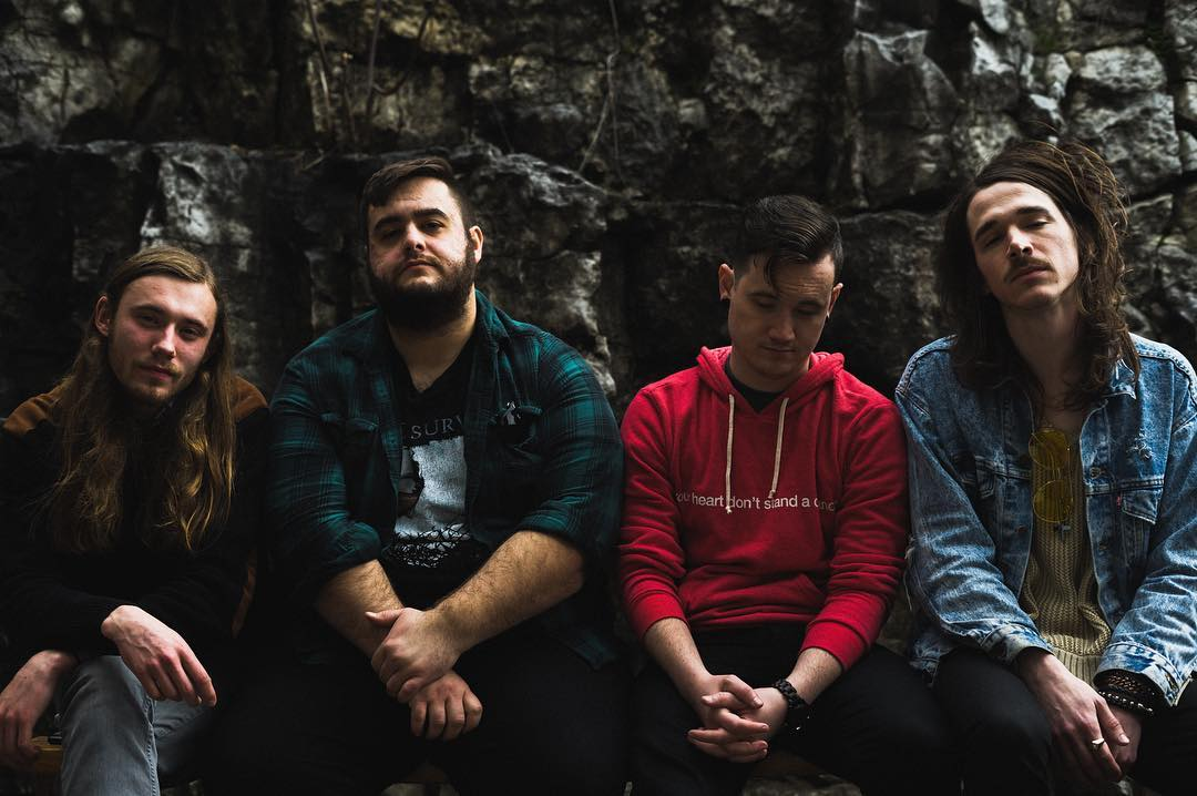 Distant Eyes consists of four Altonians. From left to right, Ian Whitmore, Brett Kutter, Jacob Mreen and Bradley Rutherford. Photo by Samuel Reed
