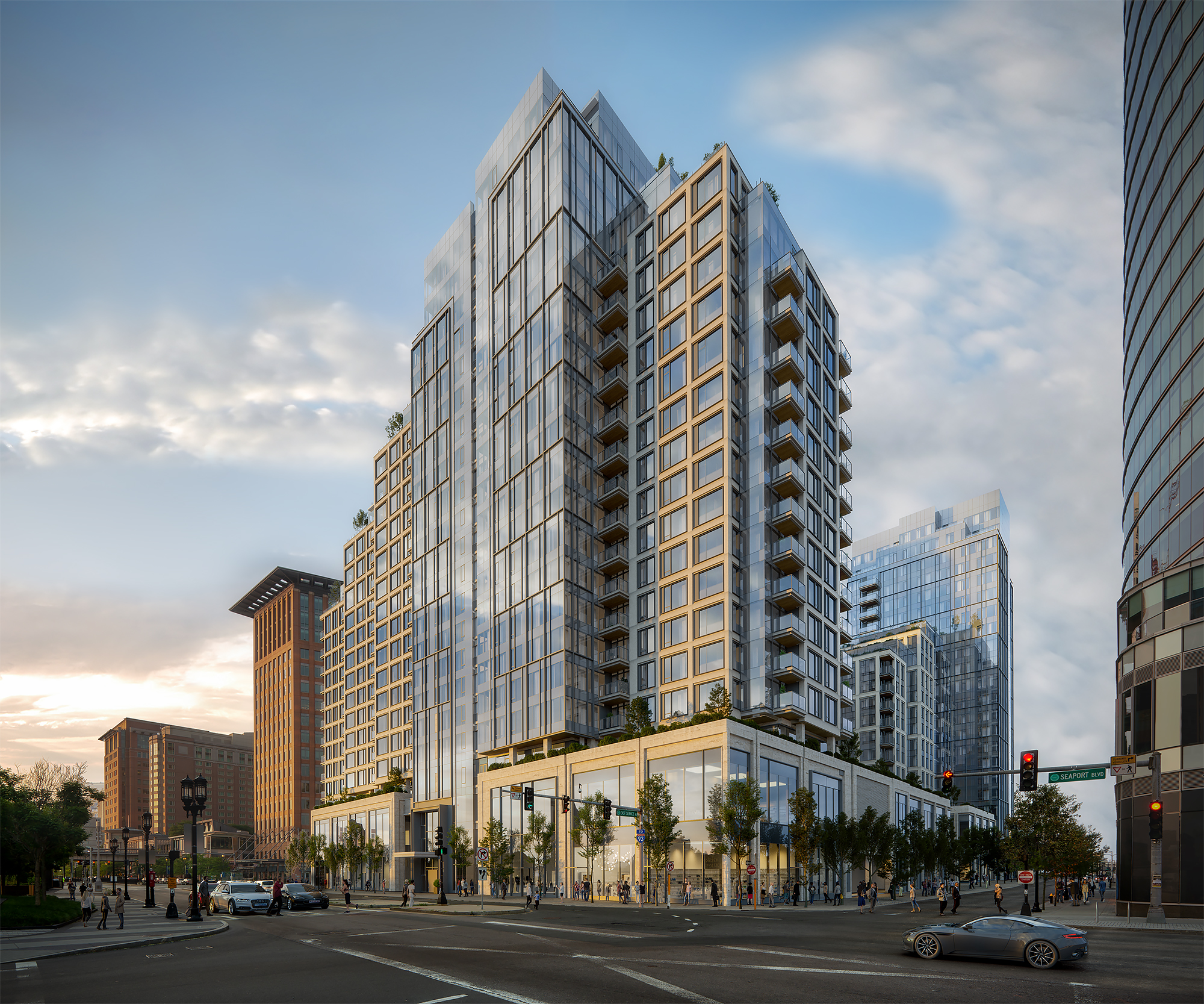 The EchelonSeaport - Address: 133 Seaport BlvdNumber of Homes: 717 condosExpected Occupancy: Fall 2019Architecture and Interior Design: Kohn Pendersen Fox (PKF) and Jeffrey Beers InternationalNotable Features: 3 Pools, Landscaped Courtyard, Innovation Center