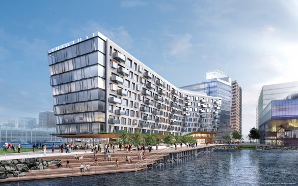 Pier 4 - Address: 300 Pier 4 BlvdNumber of Residences: 106Expected Occupancy: Spring 2019Architect and Developer: SHoP and Tishman SpeyerNotable Features: Private Marina with Barton & Gray partnership, Farm-to-Table restaurant, expansive private and common outdoor spaces