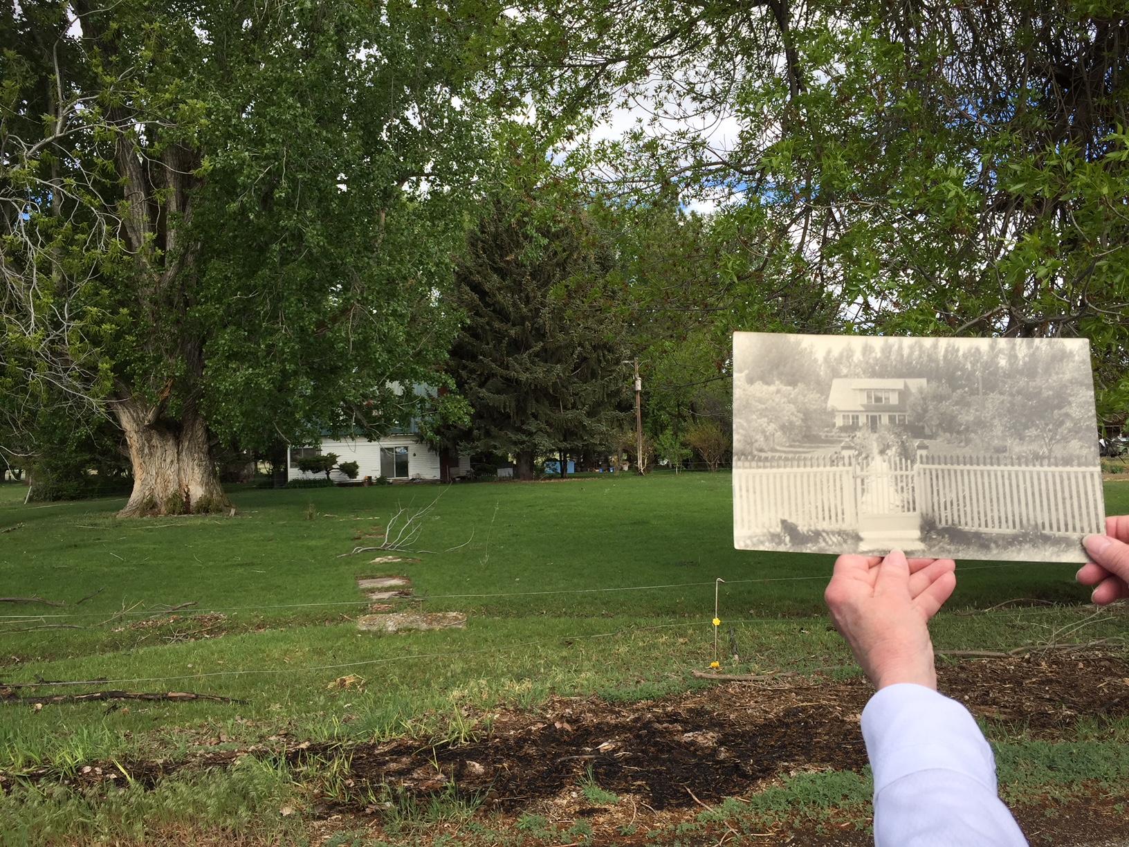 My great grandparents' farm, Rupert, Idaho circa 1918 and 2018.