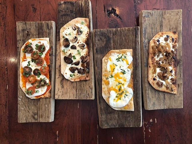 Flatbreads. Full hearts. ❤️ We're excited to announce our new Happy Hour offering of $5 flatbreads, available from 4-6 pm each Sunday through Thursday.