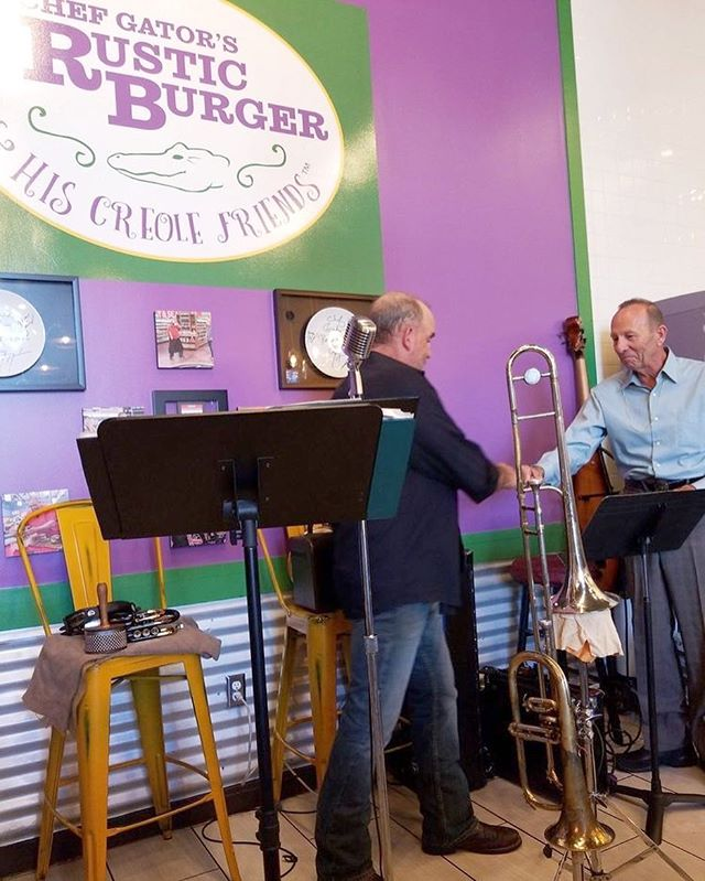 A pic from our first Blues and Brunch show with Sheldon Bermont & the Backsliders! #gatorscreolefriends