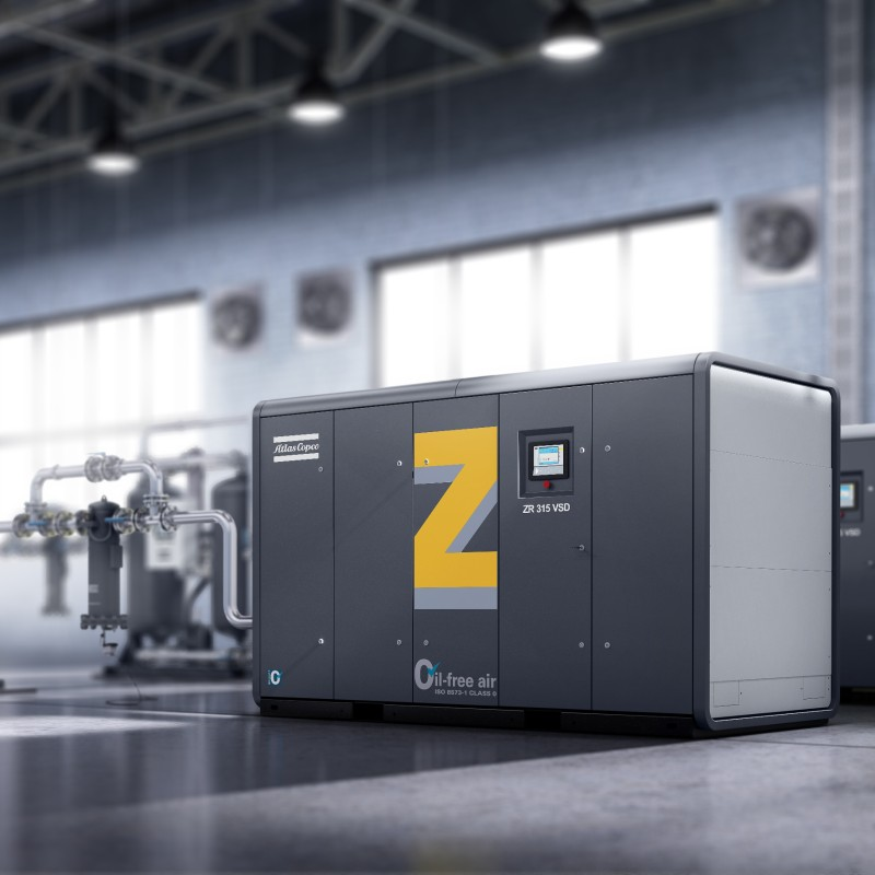 rotary screw lubricated air compressors