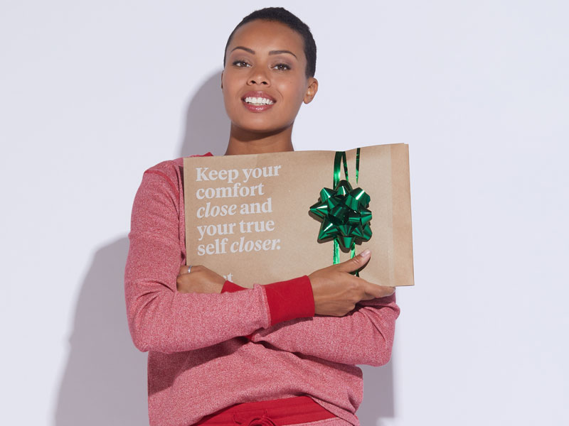 Keep it simple - Just tie on a ribbon to the Pact Shipping mailer and you've got an eco-wrapped gift.