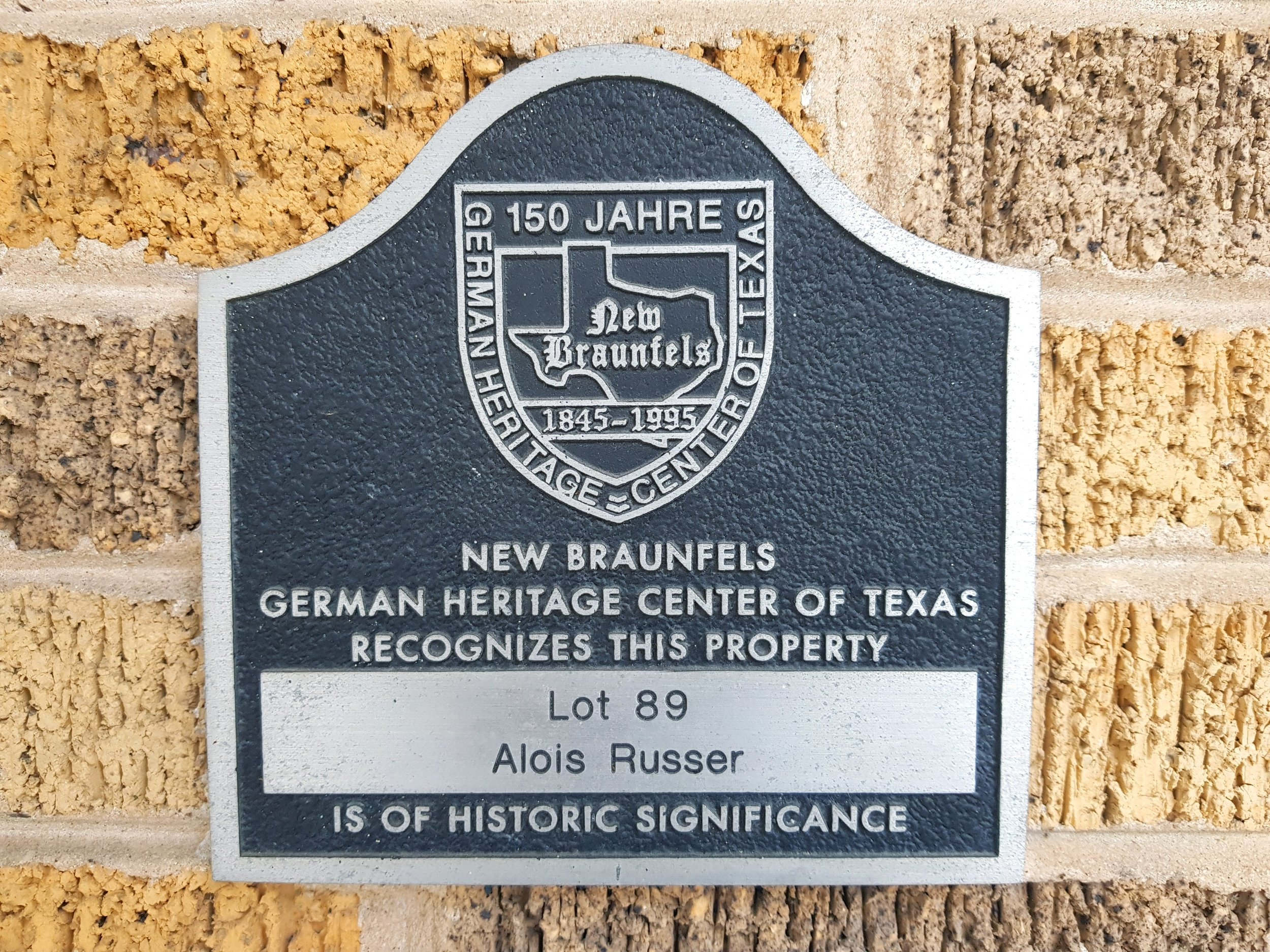 Our location is on the New Braunfels historic downtown walking tour.