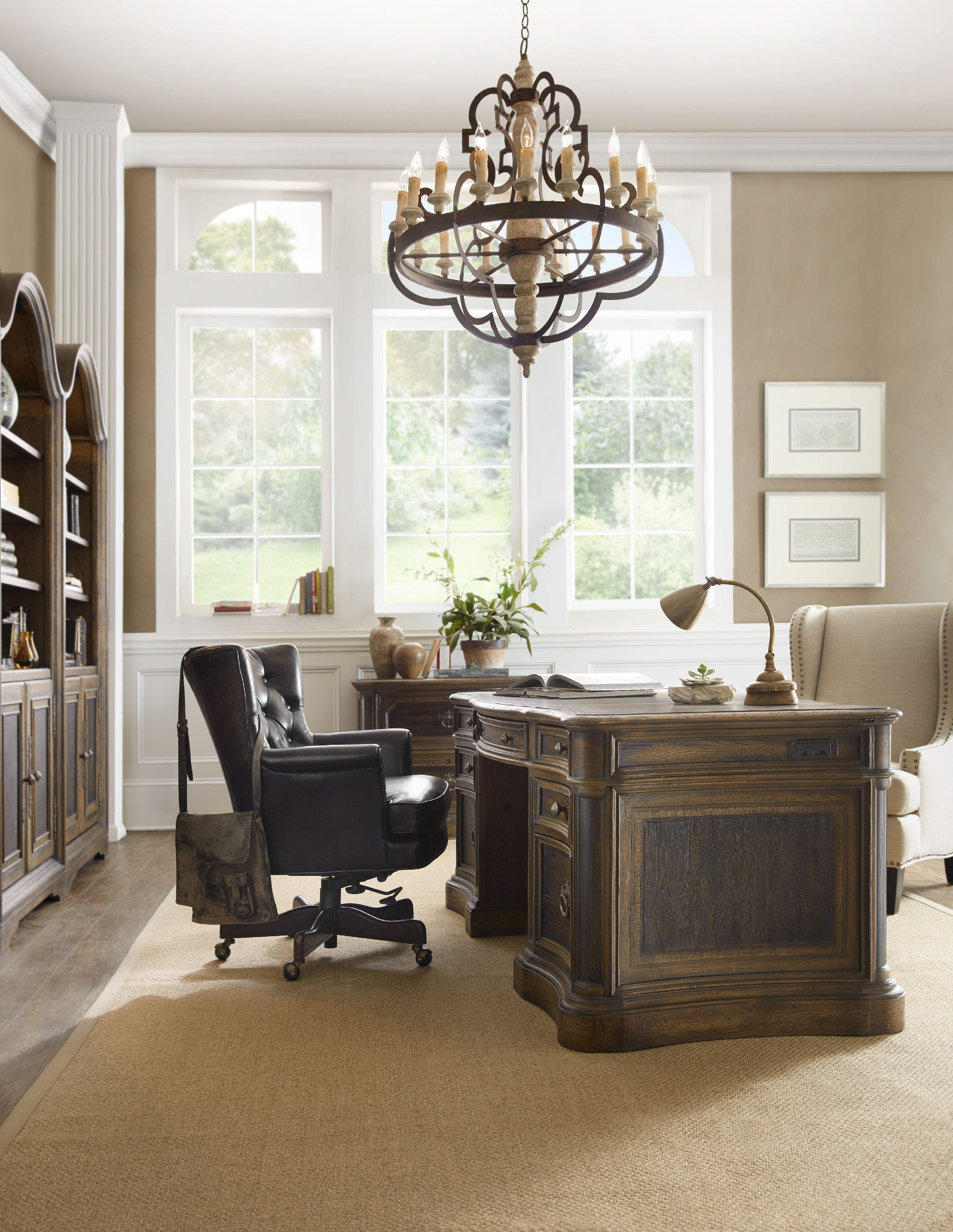 St. Hedwig Executive Desk by Hooker