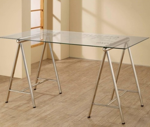 Glass Top Writing Desk by Coaster