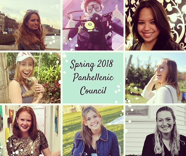 Congrats to the Spring 2018 Panhellenic Council!!