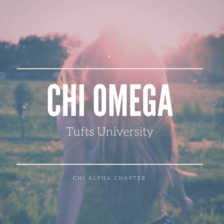 Chi Ommega - Nickname: Chi OFounded: 1895Mission Statement: Chi Omega is an intergenerational women's organization forever committed to our founding purposes: friendship, personal integrity, service to others, academic excellence and intellectual pursuits, community and campus involvement, and person and career development.Philanthropy: Make-a-Wish FoundationWebsite:http://chialphasisters.weebly.com/Facebook: https://www.facebook.com/chiomegatufts/Instagram: https://www.instagram.com/chiomegatufts/?hl=en