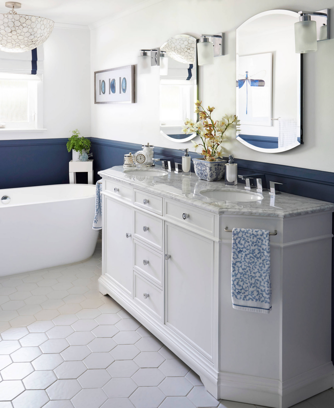 buttoned-up bathroom