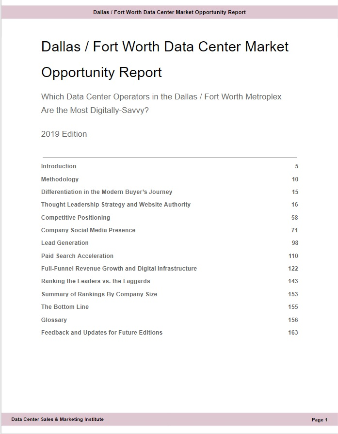 B - Dallas Fort Worth Data Center Market Opportunity Report- TOC from Excerpt.jpg