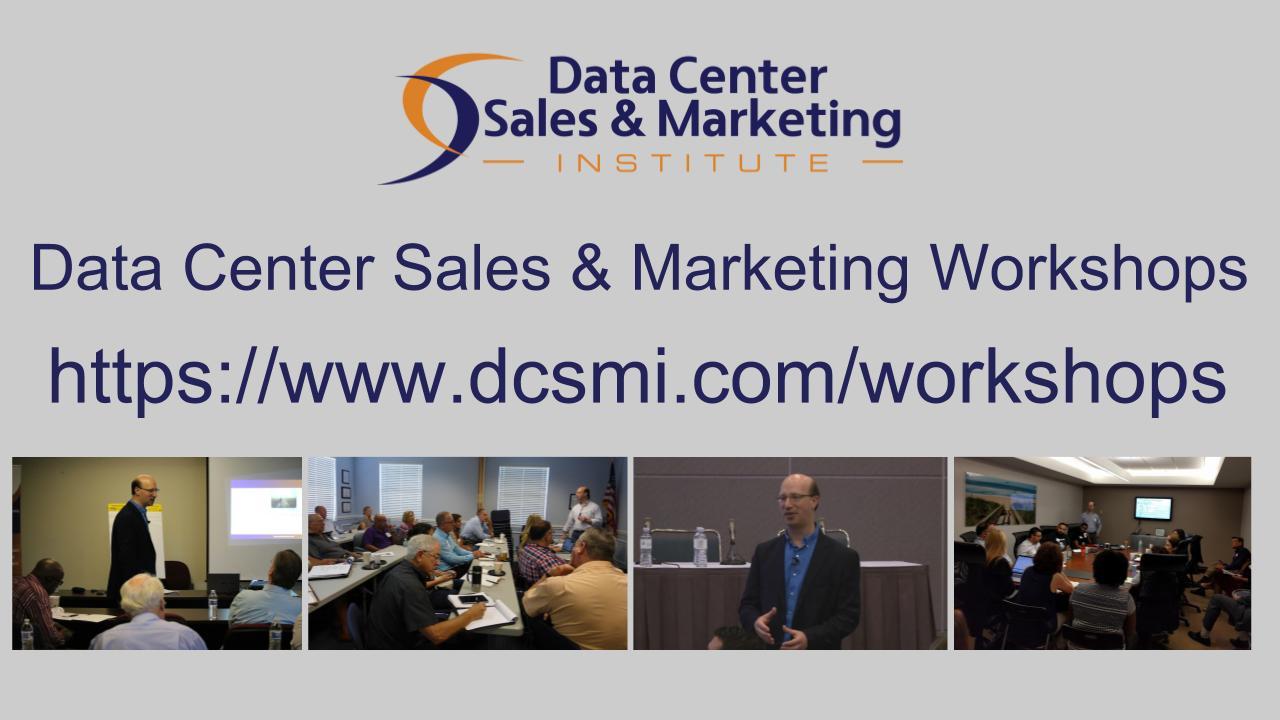 Data Center Sales & Marketing Workshops