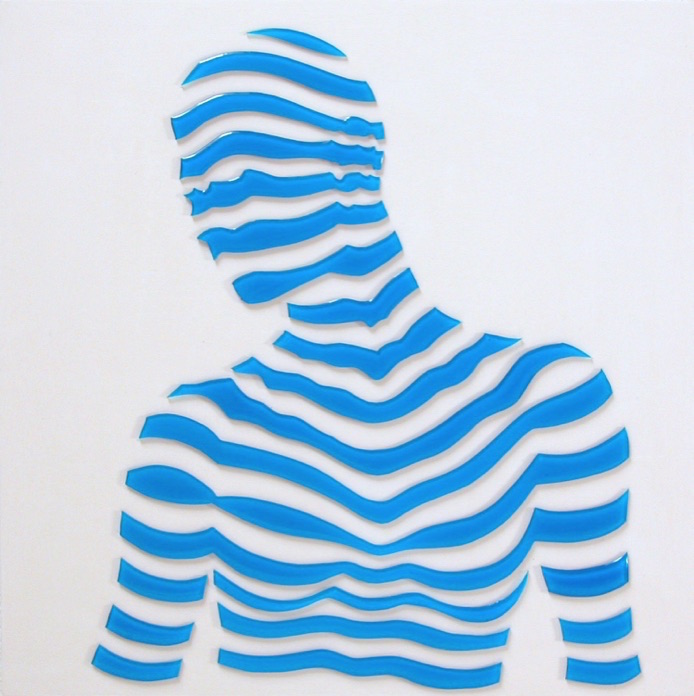 """Stripe Study#1. 10""""x10""""x1"""""""