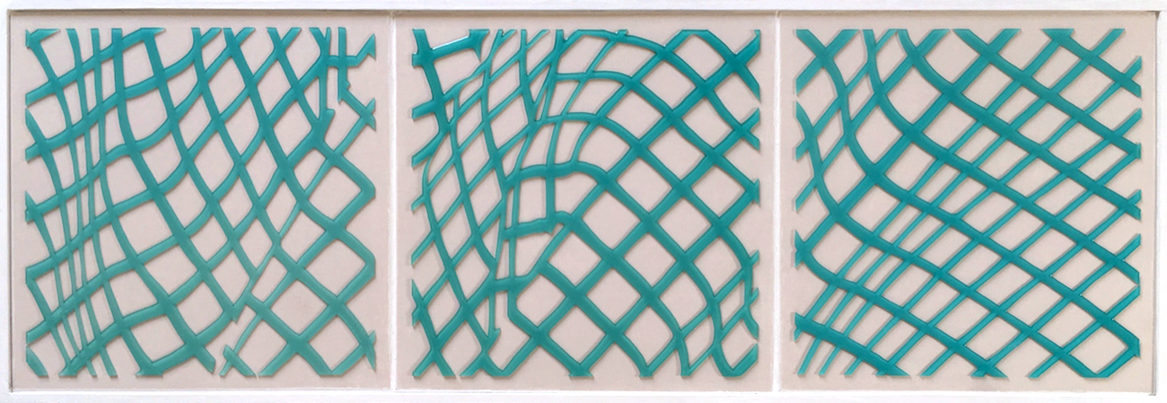 "With fabric study3,4,5. 8""x24""x1.5"".2014"