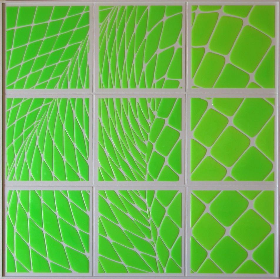 """Her Elements. 37""""x37""""x1.5"""".2009"""