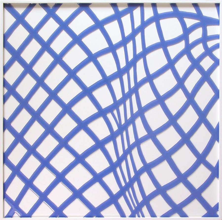 """Warp & Wrap. 18""""x18""""x1.5"""". 2011"""