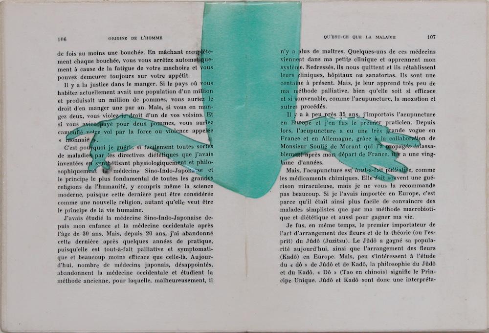 """Origine de l'homme. 8""""x12""""x1"""". 2004"""