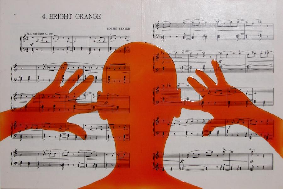 "Bright Orange. 12""x18""x1"". 2005"
