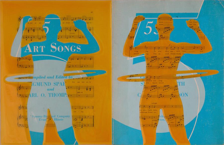 "Art Songs. 12""x18""x1"". 2005"