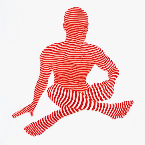 "StripePose #21 . 20""x20""x1.5"""