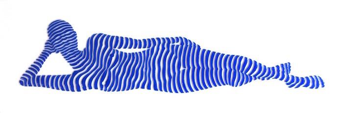 "StripePose Study #66 . 6""x18""x1.5"""