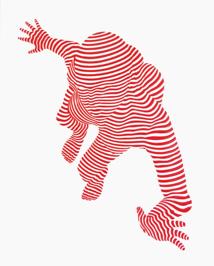 "StripePose#23 .30""x 20""x1.5"""