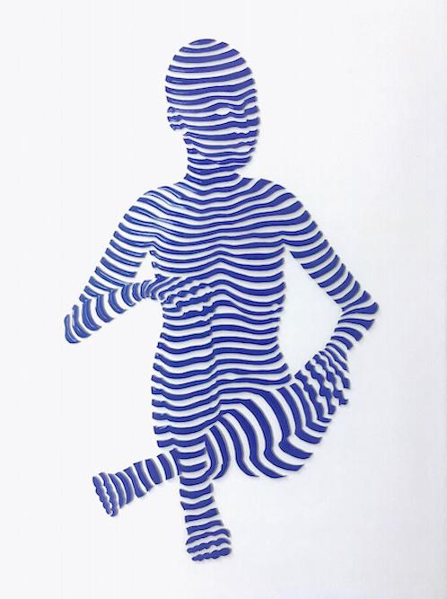 "StripePose Study #62 . 12""x9""x1"""