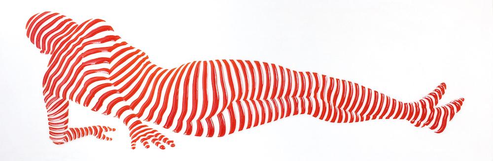 "StripePose Study #74 . 6""x18""x1.5"""