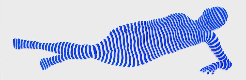 "StripePose Study #75a . 6""x18""x1.5"""