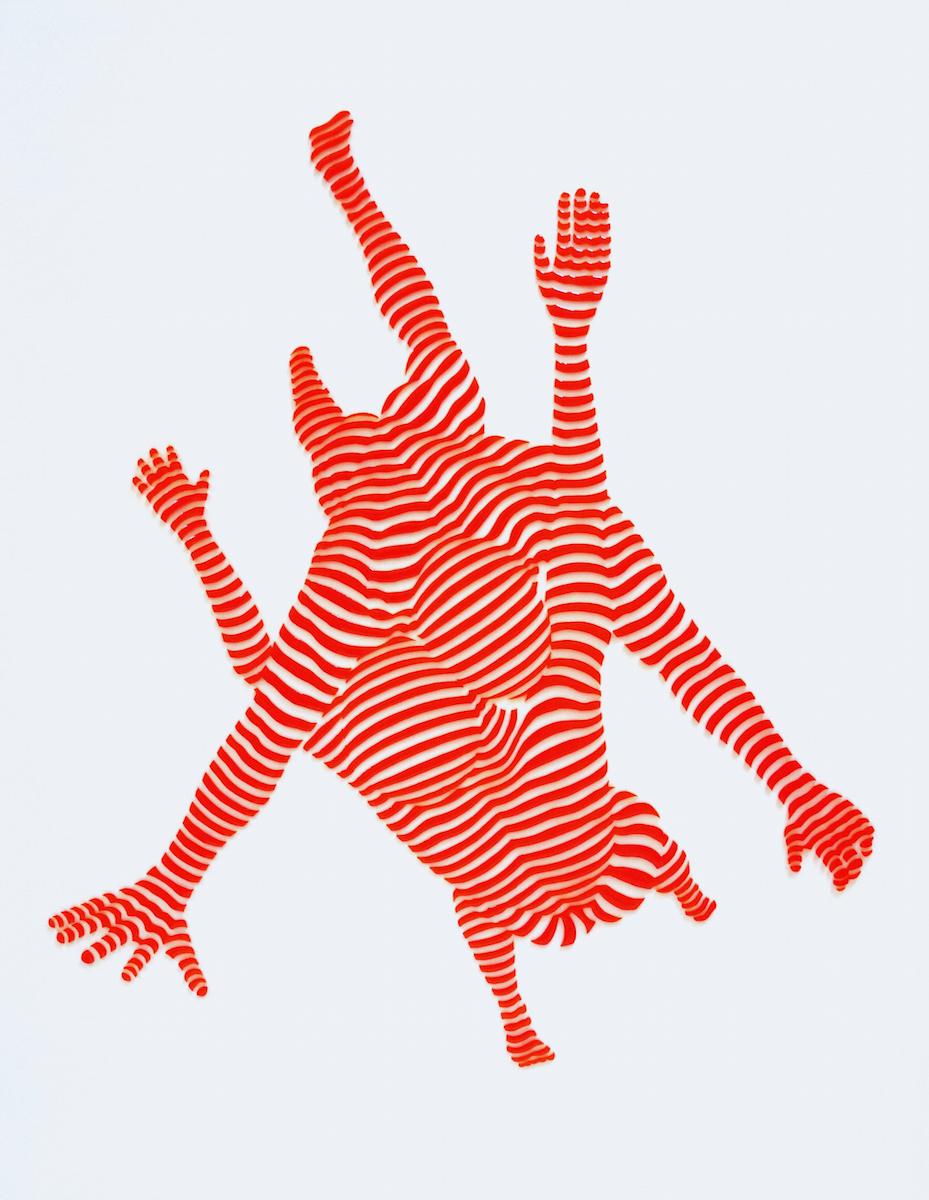 "StripePose Study #79 . 20""x16""x1.5"""