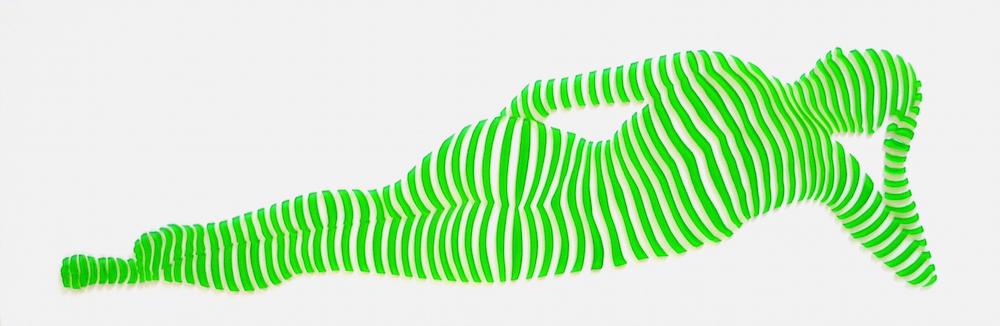 "StripePose Study #77 . 6""x18""x1.5"""