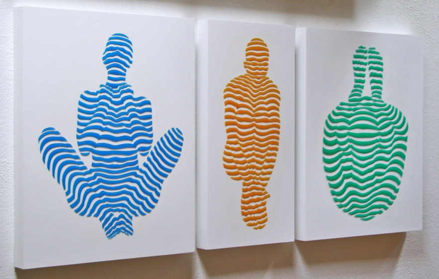 """From StripePose Serie. 3 pieces 20""""x16"""", 20""""x10"""". 2014"""